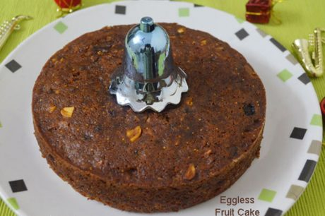 Eggless Christmas Fruit Cake Eggless Christmas Fruit Cake Recipe