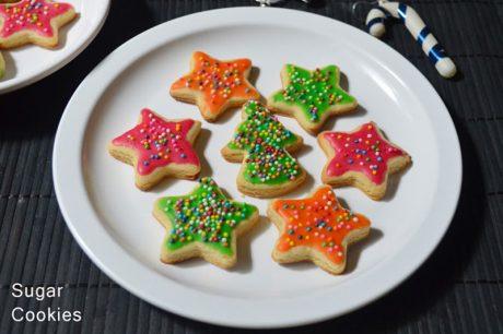 Eggless Sugar cookies Eggless Sugar Cookies Recipe