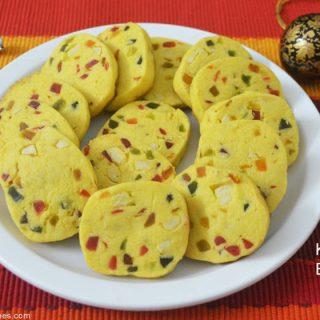 Eggless Tutti Frutti Cookies Recipe | Eggless Tutti Frutti Cookies