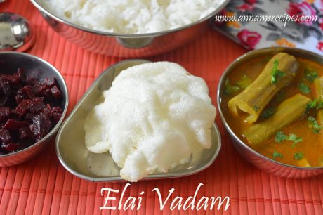 Elai Vadam Recipe Rice Appalam
