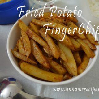 Fried Potato Finger Chips | Potato Finger Chips Recipe