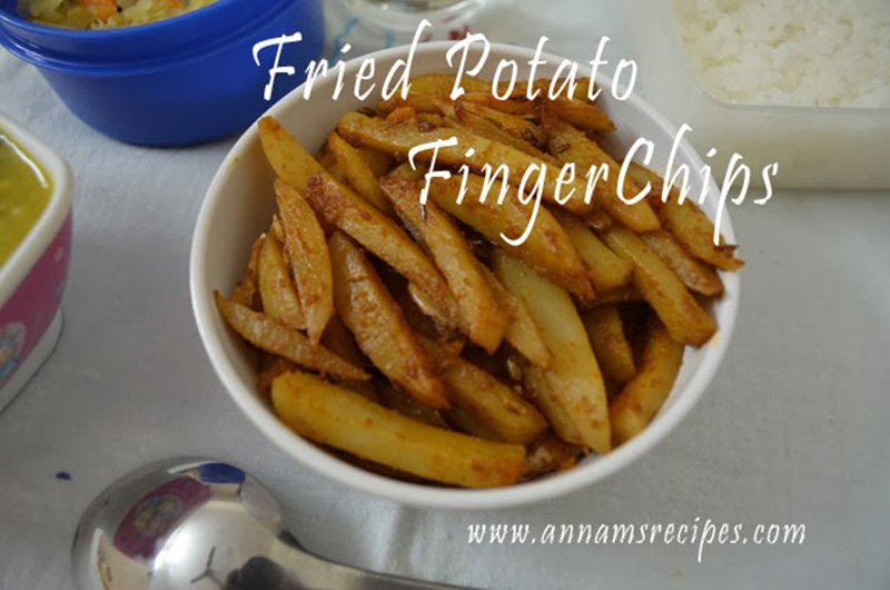 Fried Potato Finger Chips Potato Finger Chips Recipe