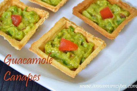 Guacamole Canape Recipe Guacamole Canape