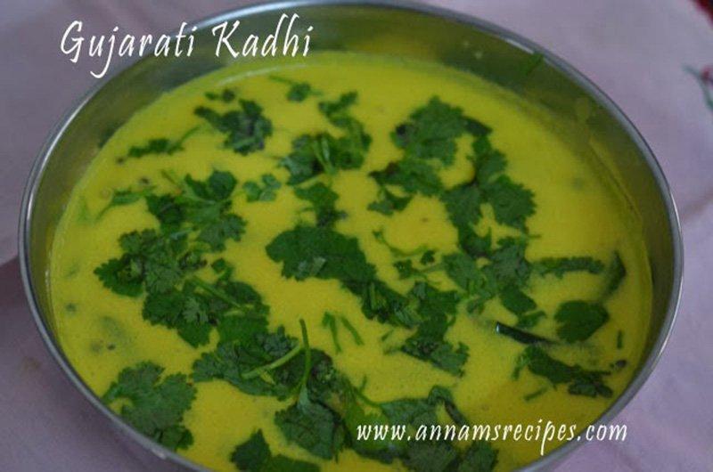 Gujarati Kadhi Recipe Gujarati Kadhi