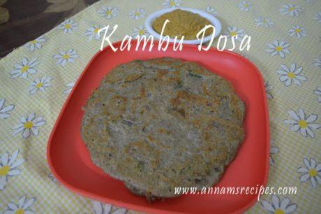 Kambu Dosa Kambu Dosai Recipe