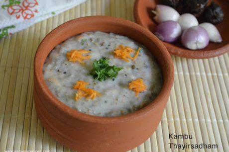 Kambu Thayir Sadham Kambu Thayir Sadham Recipe