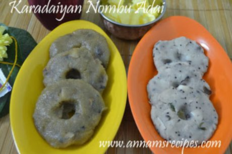 Karadaiyan Nombu Adai Karadaiyan Nombu Adai Sweet and Salt Recipe