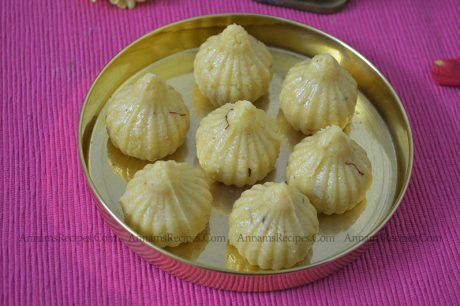 Khoya Modak Easy Modak Recipe