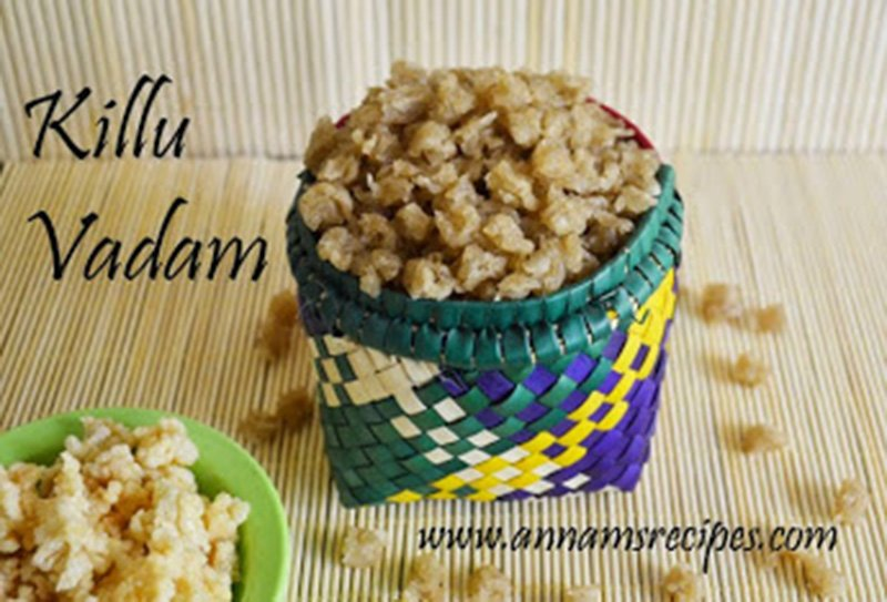 Killu Vadam Recipe Killu Vathal