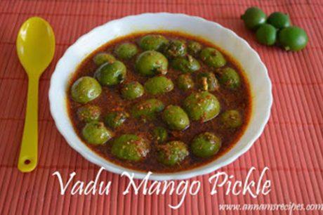 Maavadu Pickle Recipe Vadu Mangai Oorugai