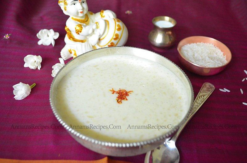 Paal Payasam Paal Payasam Recipe