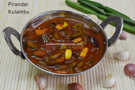 Pirandai Kulambu Pirandai Kulambu Recipe