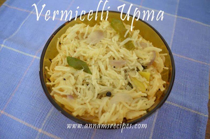Semiya Upma Semiya Upma Recipe