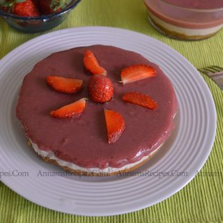 Strawberry Cheese Cake | Strawberry Cheese Cake Recipe
