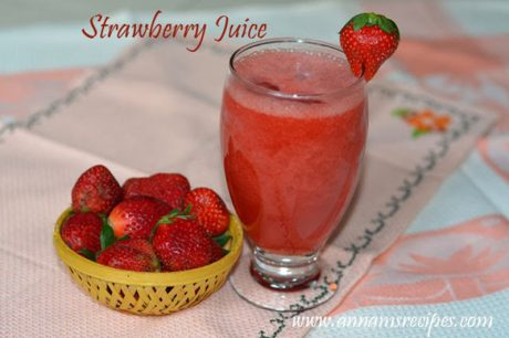 Strawberry Juice Strawberry Juice Recipe