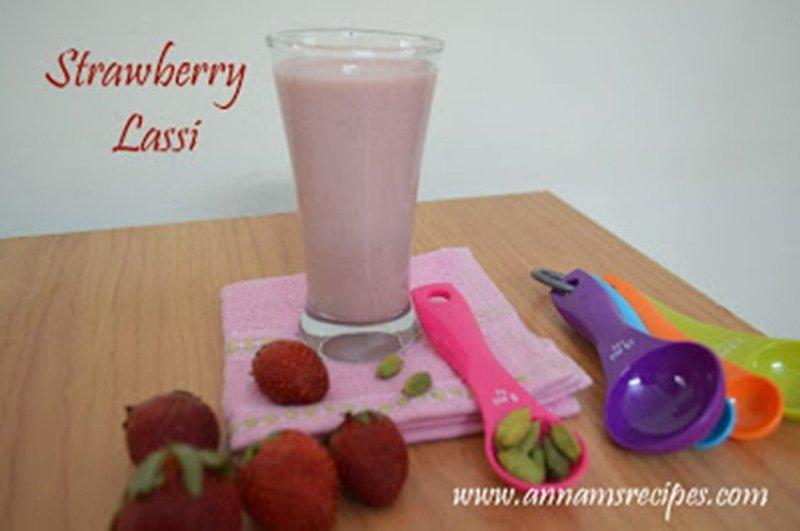 Strawberry Lassi Recipe Strawberry Lassi