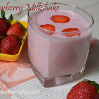 Strawberry Milkshake | Strawberry Milkshake Recipe