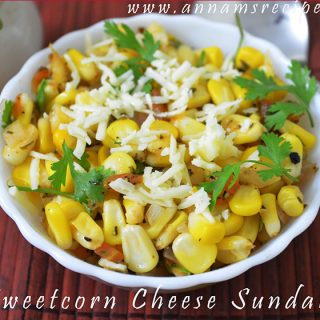 Sweet Corn Cheese Sundal | Sweet Corn Cheese Recipe