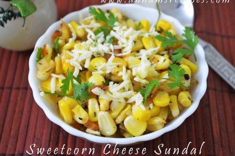 Sweet Corn Cheese Sundal Sweet Corn Cheese Recipe
