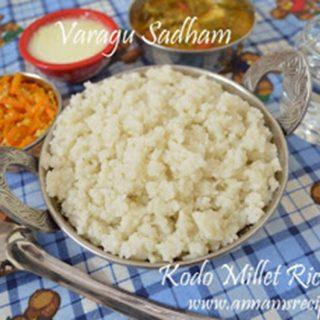 Varagu Sadham | Varagu Arisi Sadham