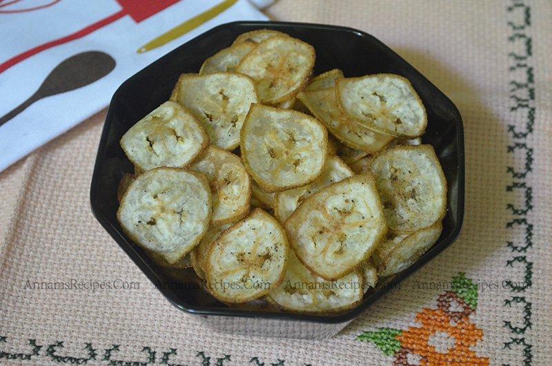 Vazhakkai Chips Recipe Raw Banana Chips