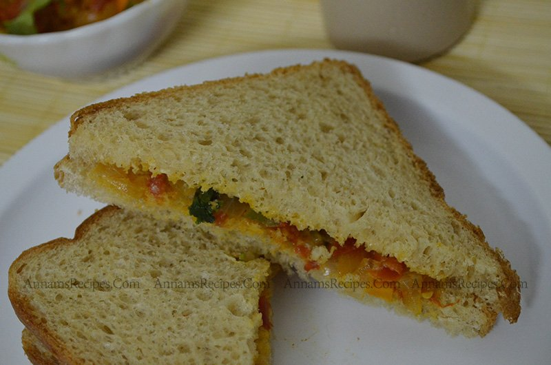 Vegetable Sandwich Recipe Vegetable Sandwich