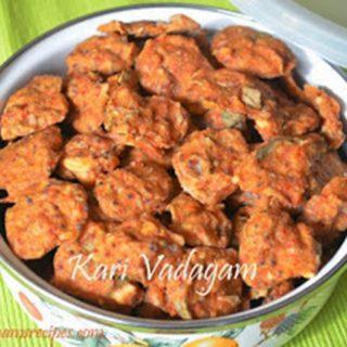 Vengaya Kari Vadagam| Chettinad Kari Vadagam Recipe