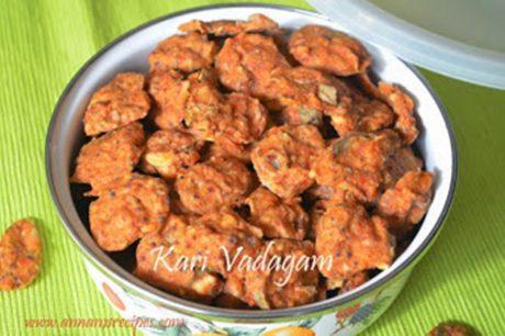 Vengaya Kari Vadagam Chettinad Kari Vadagam Recipe