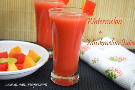 Watermelon Muskmelon Juice Watermelon Cantaloupe Juice