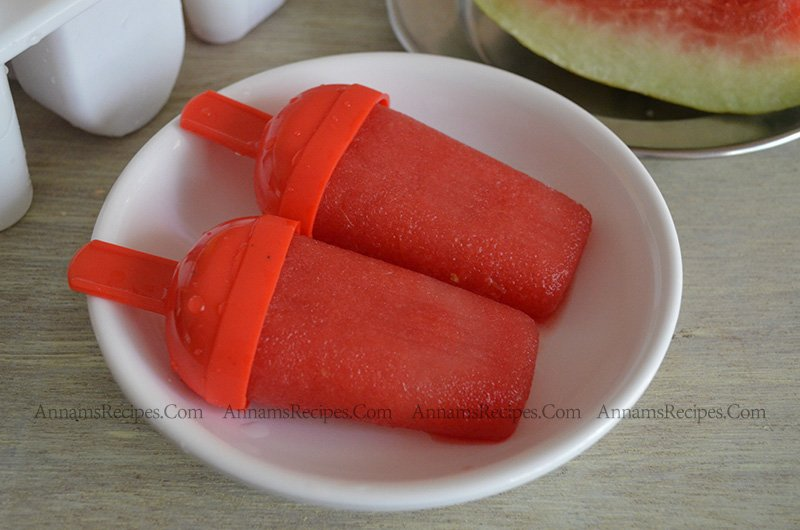 Watermelon Popsicle Watermelon Popsicles recipe Indian