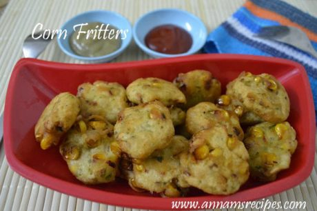 Corn Fritters Indian Corn Fritters Recipe