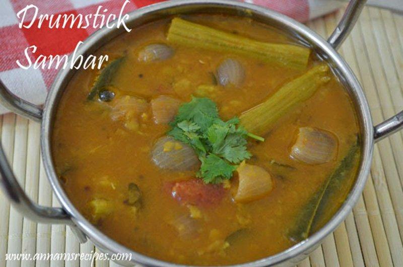 Drumstick Sambar Recipe Chettinad Murungakkai Sambar Recipe