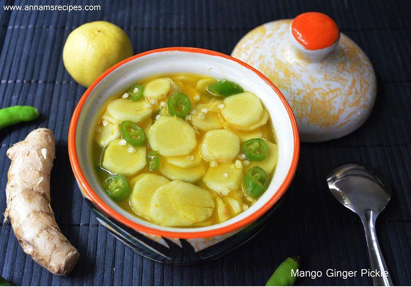 Mango Ginger Pickle Recipe Manga Inji Oorugai
