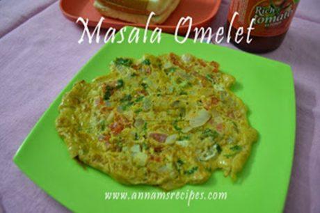 Masala Omelette Masala Omelette Recipe