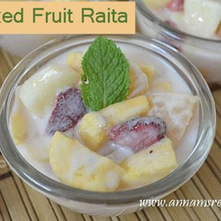 Mixed Fruit Raita | Mixed Fruit Raita Recipe