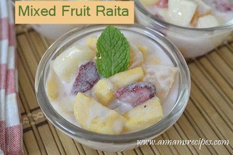 Mixed Fruit Raita Mixed Fruit Raita Recipe