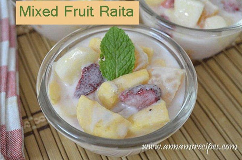 Mixed Fruit Raita Mixed Fruit Raita Recipe