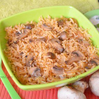 Mushroom Pulao | Mushroom Pulao Recipe