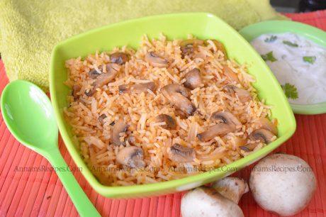 Mushroom Pulao Mushroom Pulao Recipe