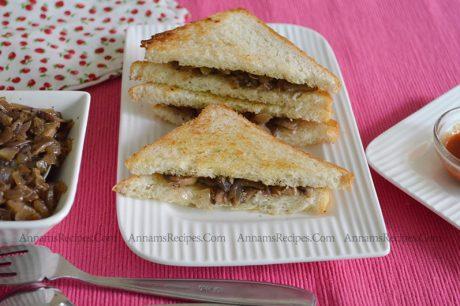 Mushroom Sandwich Recipe How to make Mushroom Sandwich