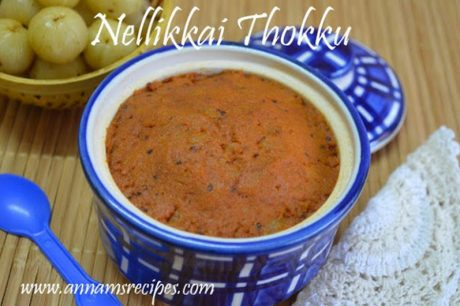 Nellikkai Thokku Recipe Nellikai Chutney