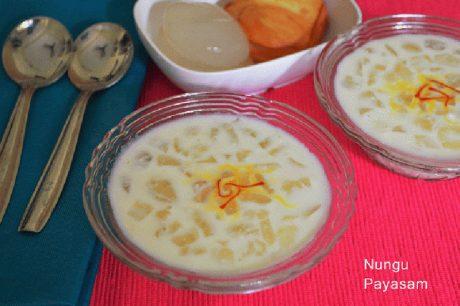 Nungu Payasam Recipe How to make Nungu Payasam