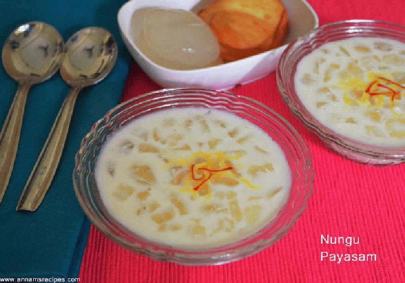 Nungu Payasam Recipe How to make Nungu Payasam