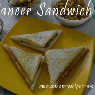 Paneer Sandwich | Paneer Sandwich Recipes