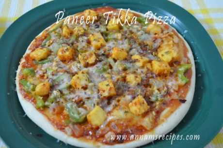 Paneer Tikka Pizza Paneer Tikka Pizza Recipe