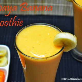 Papaya Banana Smoothie | Papaya Banana Smoothie Recipe
