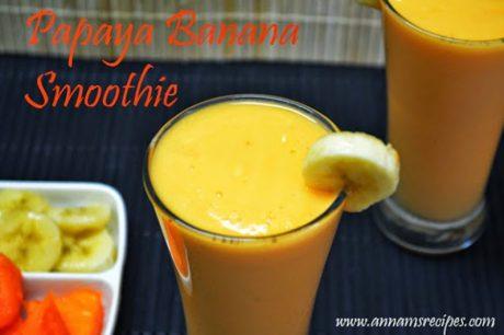 Papaya Banana Smoothie Papaya Banana Smoothie Recipe