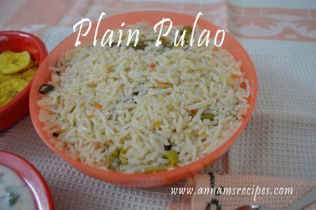 Plain Pulao Plain Pulao Recipe
