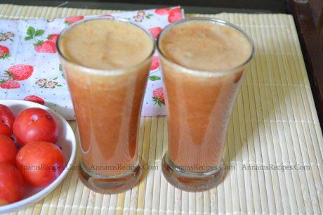 Plums Juice Plum Juice Recipe