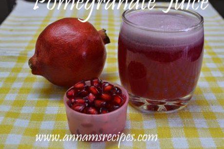 Pomegranate Juice Pomegranate Juice Recipe